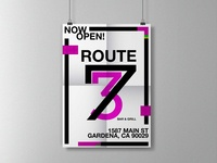 Route 73 Poster Concept