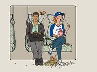 Train Etiquette Posters - The Peanut Pitcher