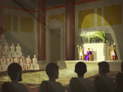 'Roman Senate' - Digital Painting from Documentary