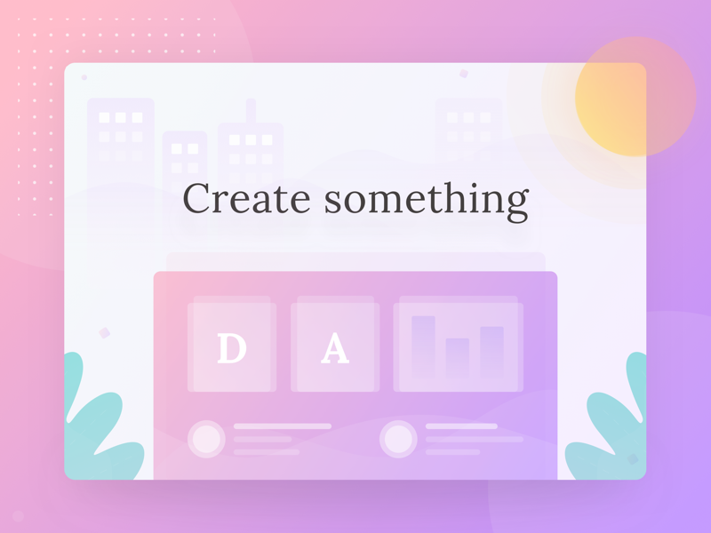 Create something | Landing page vector icon illustration clean ux design ui
