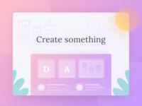 Create something | Landing page