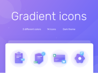 Freebie gradient icon set