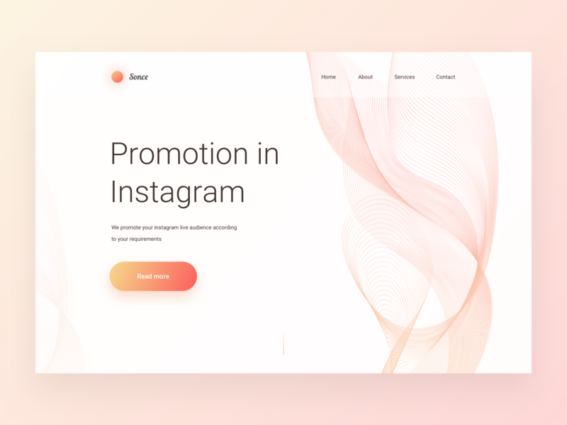 Promotion in Instagram Landing Page promotion instagram landing page lp vector icon illustration clean design ui
