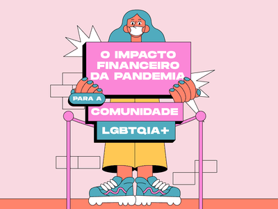 COVID impact to LGBTQ people pride pridemonth characters characterdesign graphic design covid lgbtq illustration