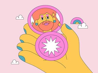 Drag Queen Makeup pride month pride drag queen characterdesign characters makeup lgbtq illustration graphic design