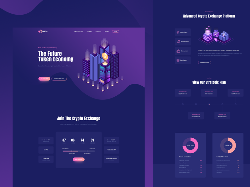 Cryptoc - CryptoCurrency Elementor Landing Template agency website branding ui ux wallet design illustration product landingpage crypto dashboard crypto exchange crypto wallet cryptocurrency currency crypto