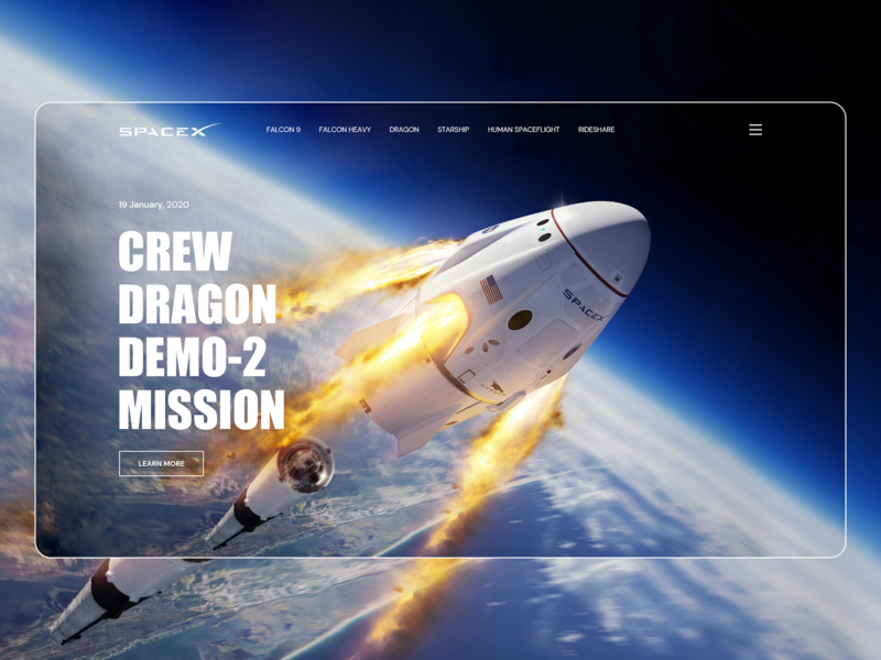 SpaceX - Crew Dragon Demo - 2 Mission alien spaceship air galaxy mission dragon crew crew dragon space nasa spacex