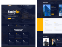 HandyTor Construction Website Template ux ui design branding agency website illustration product landingpage workers builder construction architecture