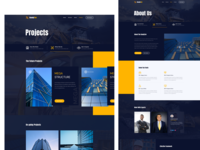 HandyTor Construction Website Template vector logo branding ux ui illustration product design agency website landingpage project builder construction architecture