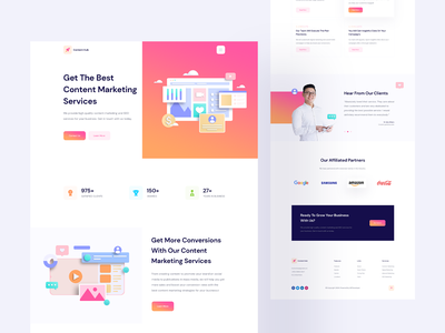 Content Hub - Content Marketing Website Template For Elementor gif animation motion 3d vector illustration landingpage product content strategy marketing agency agency website marketing content creation content marketing content
