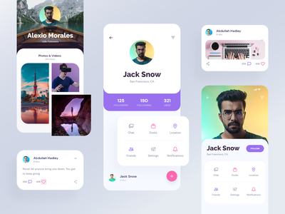 App UI - User Profile | Exo UI kit notification gallery icon design ux ios7 ios profile screen user profile profile mobile ui mobile app app ui ui