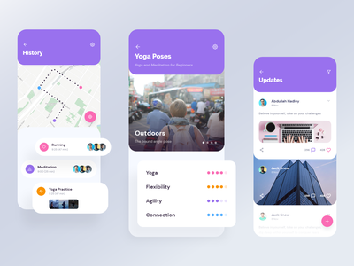 App UI - Timeline | Exo UI kit design ui ux product timeline location map app ui kit mobile ui mobile app app ui design app ui