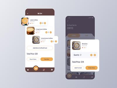 L'espresso – Coffee Mobile App ui ux branding product apparel popup cart application app design ios7 ios coffee app coffeeshop coffee mobile app app