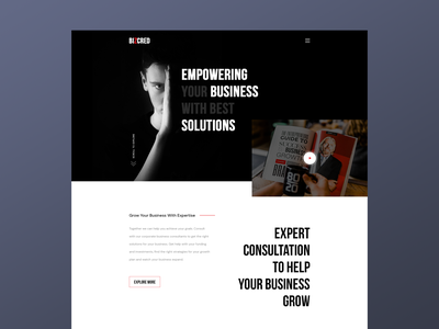 BizCred - Corporate Business Website Template branding ux ui agency website design illustration landingpage corporate website corporate business website agency consultancy business