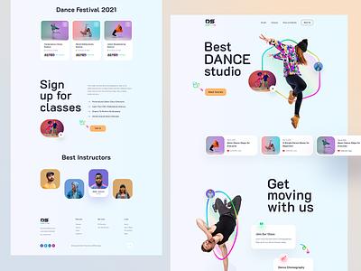 Dance Studio - Personal Dancer Website ui ux landingpage product school instructor music band jazz dance class singer artist dance musician hiphop dance studio dancer