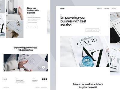BizCred - Business Magazine branding typography agency website design ux ui product landingpage megazing business website website business corporate