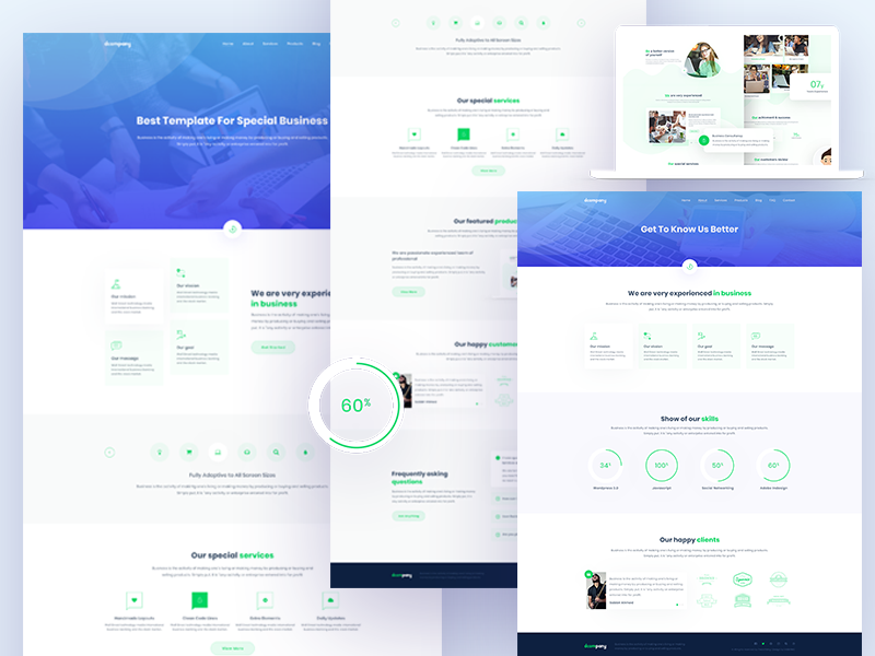 Group Of Company Business Template By Sabbir Ahmed Dribbble Dribbble
