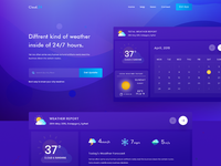 Weather landing page