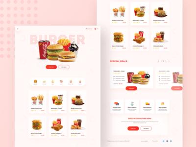 Burger King - Landing Page Concept