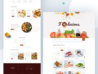 Fodecious - Restaurant Website Template