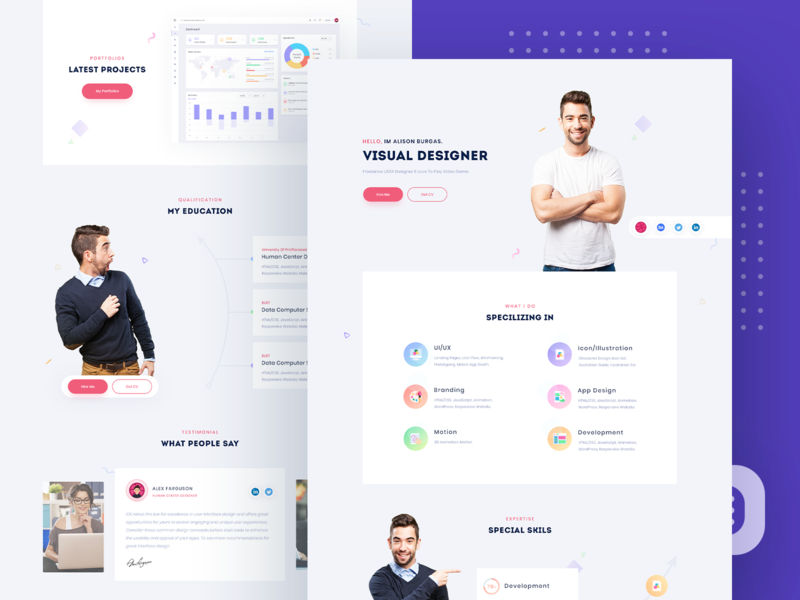Personal Portfolio Designs Themes Templates And Downloadable Graphic Elements On Dribbble