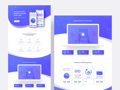 Axista - App Landing Page homepage mobile app application web ux agency website design crypto saas illustration digital marketing product landing product landing page app landing page app