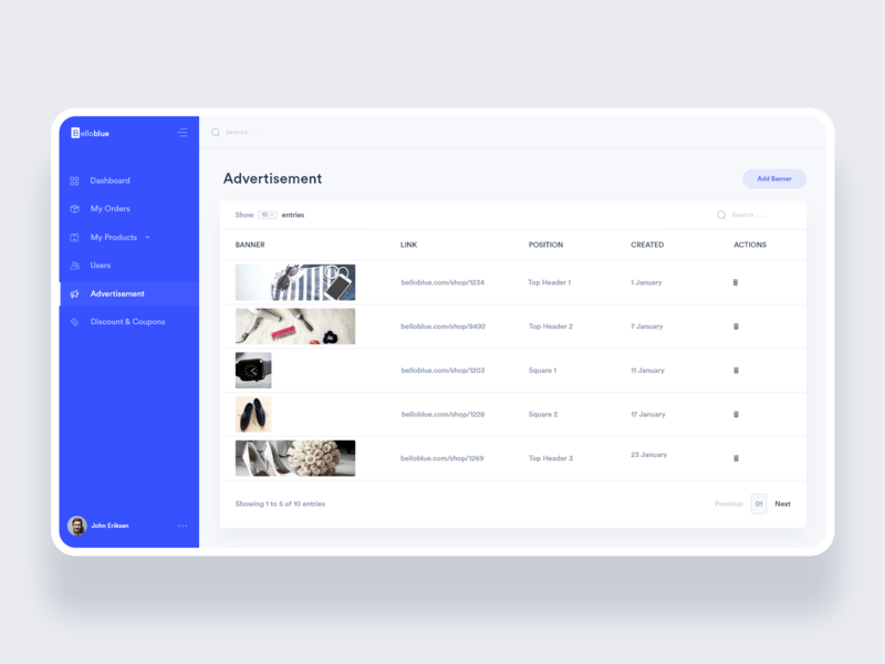 BelloBlue: Fashion + Delivery Web App icon branding online shop ecommerce delivery fashion design ui ux product admin dashboard admin template dashboard template dashboard design dashboard ui