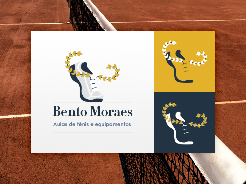 Visual Identity | Tennis semiotics lessons equipment coach visual identity court shoe laurel wreath sports tennis design branding logo draw vector drawing