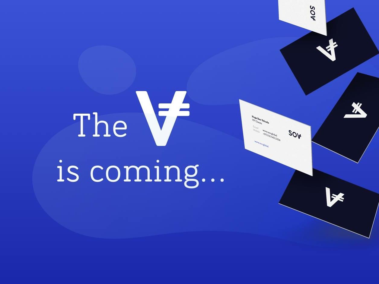 SOV hello. vector typography logo brand branding design app ux ui