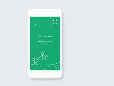 Varonis  President Club icon vector typography hello. branding design app