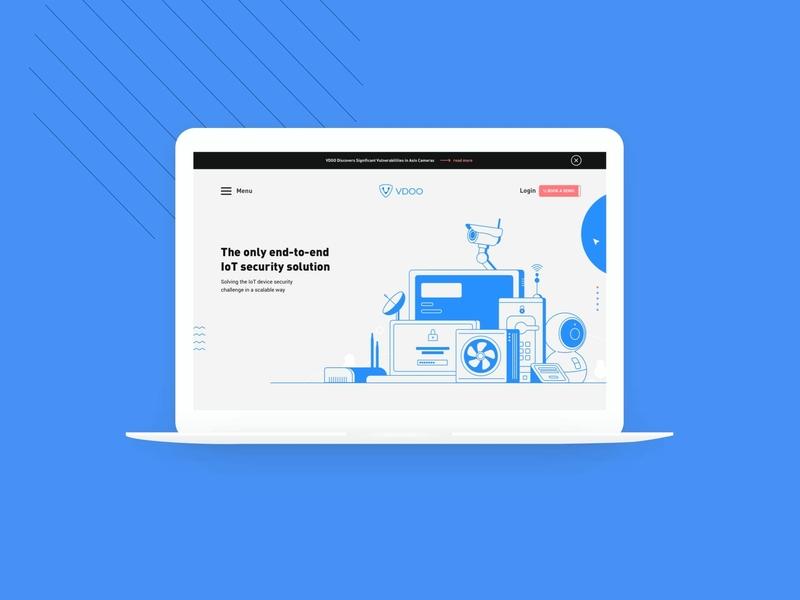 VDOO branding & website design web vector illustration typography hello. branding design ux ui