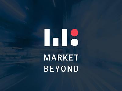 Market Beyond branding icon logo vector brand typography hello. design branding