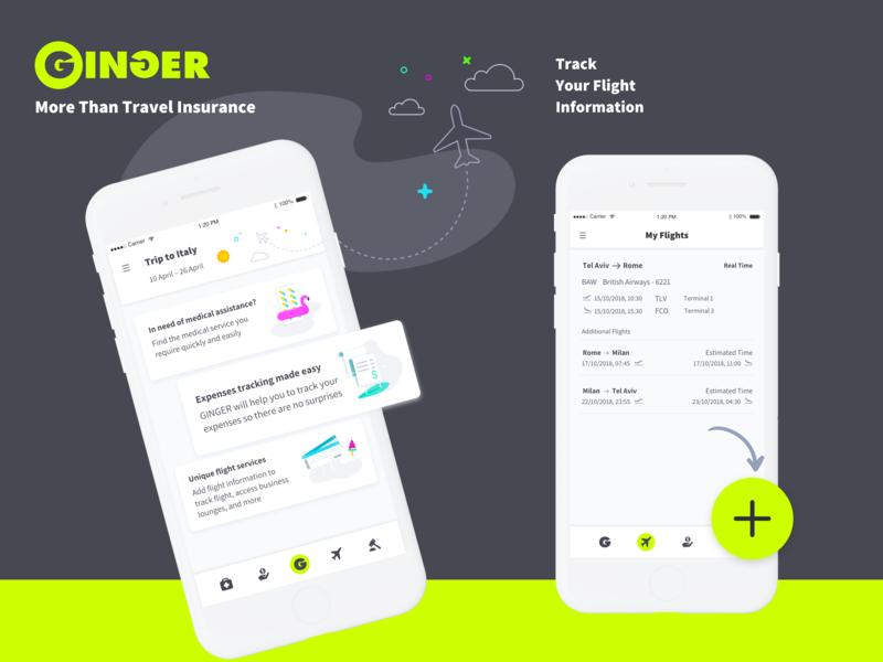 Ginger app mobile ios android vector illustration brand app hello. design branding ux ui