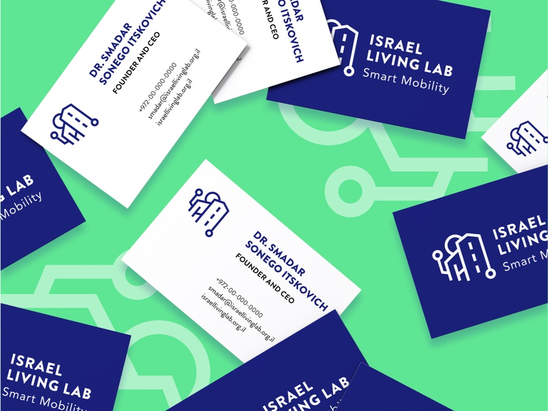 Israel Living Lab branding logo brand typography hello. design branding