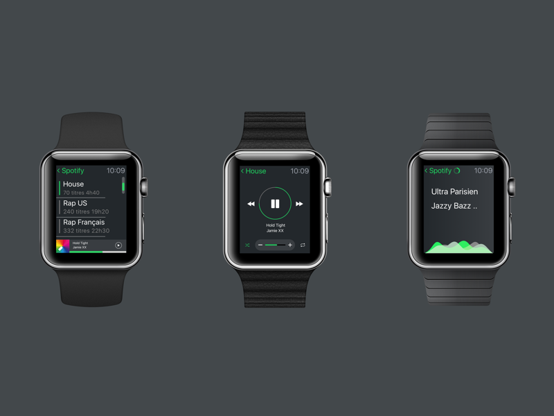 Spotify AW Concept interface watch app shot first sketch player concept applewatch spotify