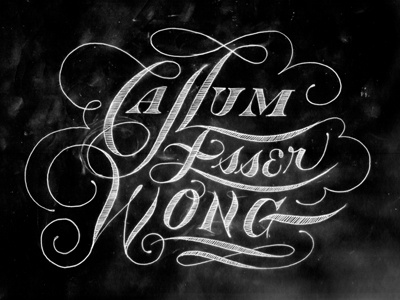 Enormous Champion friends of type enormouschampion script lettering display caps lowercase chalk texture