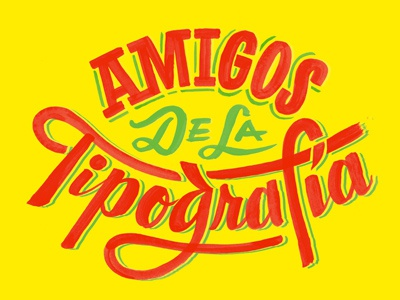 Tipografia Fiesta lettering primary colors friends of type