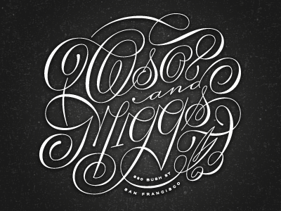 Oso & Miggs lettering friends of type script high contrast