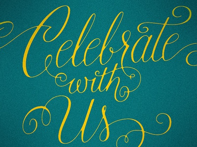 Celebrate with Us script lettering