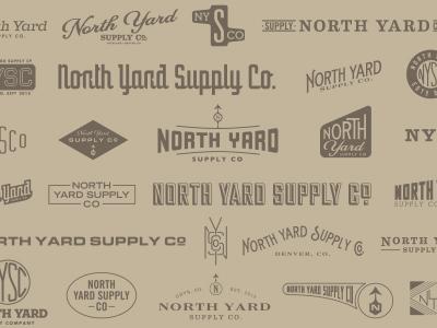 NYSC north yard supply co north yard supply co nysc logo pattern kraft