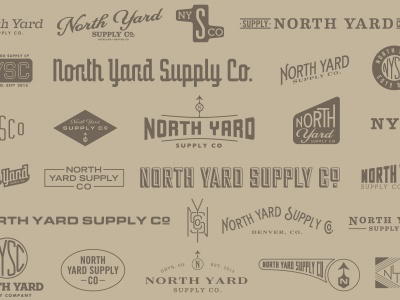 NYSC north yard supply co north yard supply co nysc logo pattern kraft
