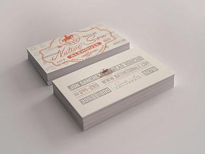 NSA Business Card mock native son alehouse business card