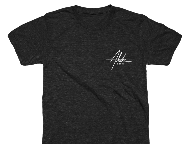 Aloha Script swag shirt hawaii aloha type script
