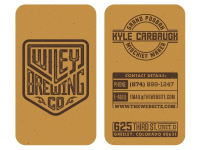 Wiley business cards by evan huwa dribbble wiley bcards colourmoves