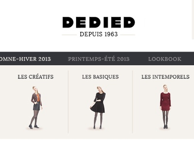 Dedied - Mega menu navigation navbar header clothes shopping menu website megamenu