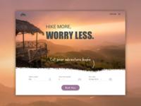 Travel & adventure web design
