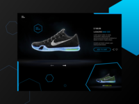 Web design for a shoe collection