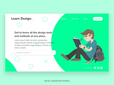 Learn Design | Landing Page UI