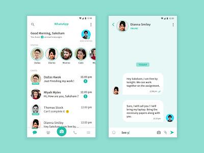 WhatsApp Redesign Concept concept dribbble redesign concept redesign whatsapp ux ui design