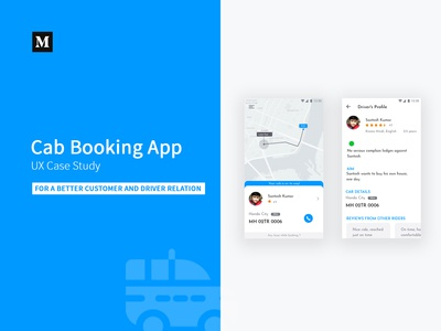 Cab Booking App - UX Case Study